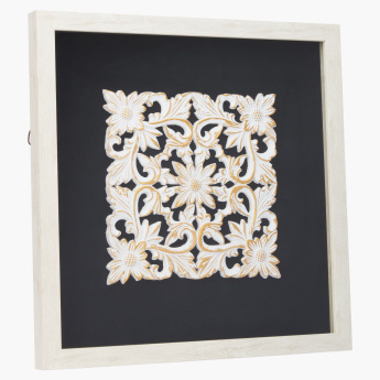 Ethnos Wall Decor with Brushed Floral Motif