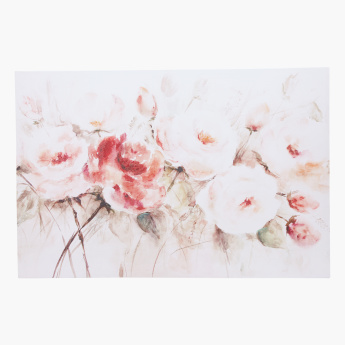 Floral Printed Rectangular Canvas Wall Decor