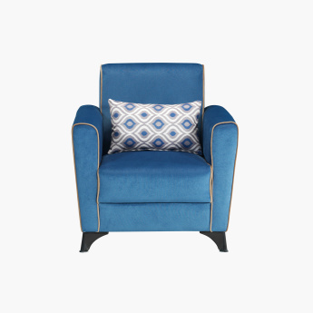 Moonlight Arm Chair with Printed Cushion