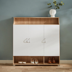 Emotion Rectangular 20-Pair Shoe Cabinet with 3 Doors