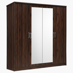 Peyton 4-Door Wardrobe with 2 Mirrors
