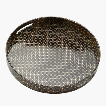 Orion Printed Tray with Cutout Handles