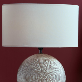Alicia Textured Round Electrical Table Lamp