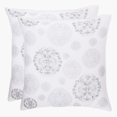 Triton Embellished Square Filled Cushion - 45x45 cms
