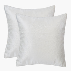 Meiline Textured Square Cushion Cover - 40x40 cms