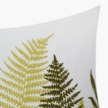 Fern Embroidered Cushion Cover - 45x45 cms