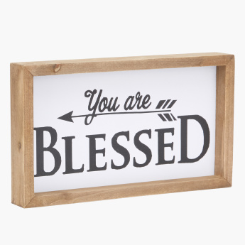 Blessed Printed Picture Frame - 37x21 cms