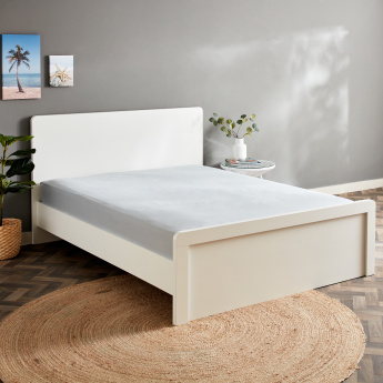 Essential Textured Super King Flat Sheet - 270x260 cms