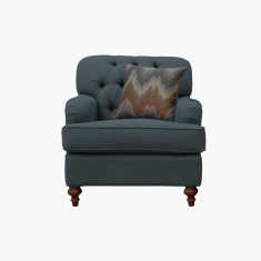 Country 1-Seater Sofa with Tufted Back