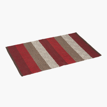 Eliza Striped and Textured Rectangular Dhurrie - 60x90 cms