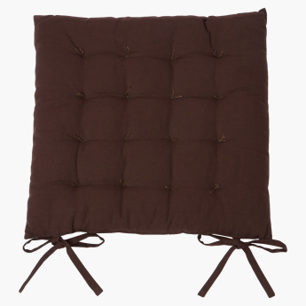 Essential Patterned Chair Pad with Tie Ups - 40x40 cms