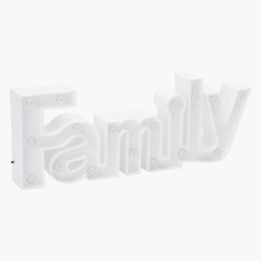 Family Lettered Decorative Light