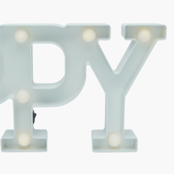Happy Text LED Light