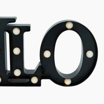 Hello Text Decorative with 19 LED Lights