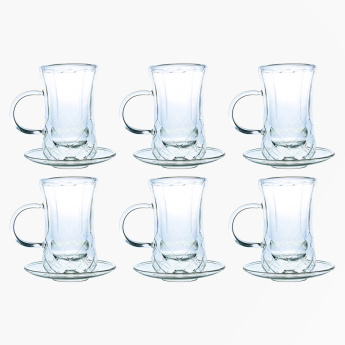 Ishitikan Textured Cup and Saucer - Set of 6
