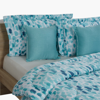 Breeze Printed 5-Piece Super King Comforter Set - 220x240 cms