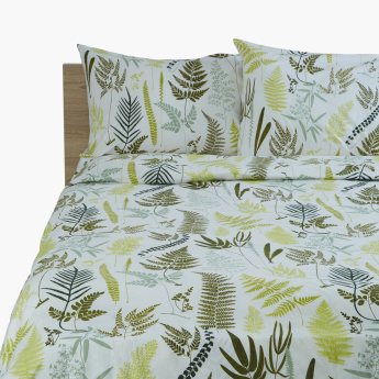 Fern Printed 3-Piece Twin Duvet Cover Set - 150x220 cms