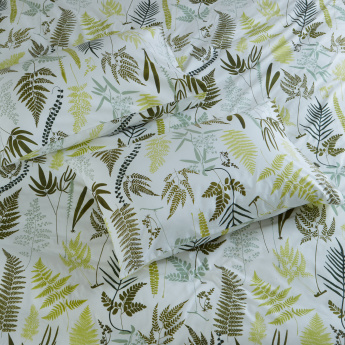 Fern Printed King Duvet Cover Set - 220x220 cms