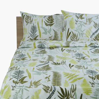 Fern Printed 3-Piece Super King Quilt Cover Set - 240x220 cms