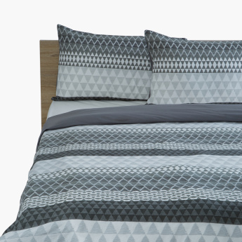 Hannah Printed 3-Piece Super King Duvet Cover Set - 240x220 cms