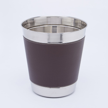 Sanity Taper Waste Bin with Stitch Detail - 9 L