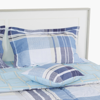 Chequered 5-Piece Twin Comforter Set - 160x220 cms