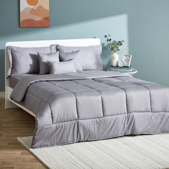 Hamilton Striped 7-Piece King Comforter Set - 240x220 cms