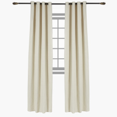 Iris Printed Blackout Curtain Pair - 140x300 cms