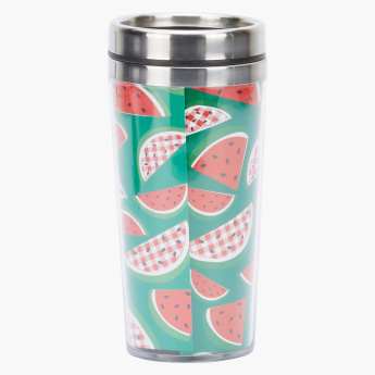 Orchid Printed Double Wall Travel Mug