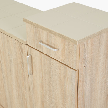 Pantry Tiled Top Kitchen Cabinet with Drawer