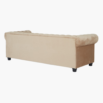 Claymont 3-Seater Sofa with Tufted Back