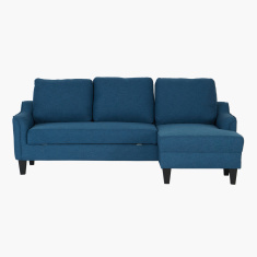 Sydney Textured Right Corner Sofa Bed