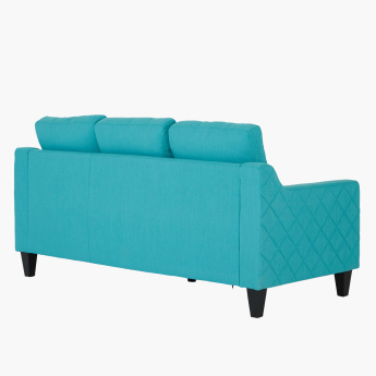 Sky Sloped Arm 3-Seater Sofa with Cushions