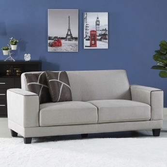 Sharon Textured 3-Seater Sofa Set with Cushions