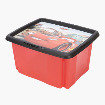 Cars Printed Box with Lid - 24 L