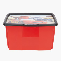 Cars Printed Box with Lid - 45 L