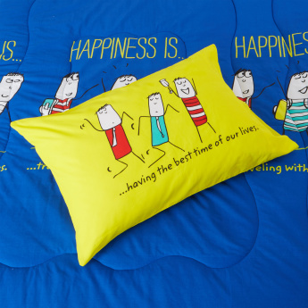 Happiness Printed 2-Piece Twin Comforter Set - 152x224 cms