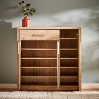 Curvy 3-Door and Shoe Cabinet with 1-Drawer