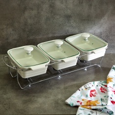 Supreme Triple Casserole with Lid