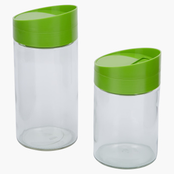 Clicklock 2-Piece Storage Jar Set