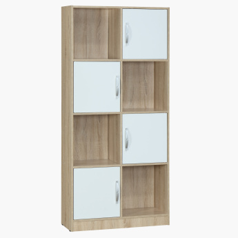 Oslo Sonoma Book Case with 4 Doors