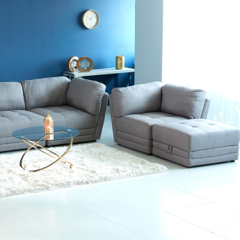 Curvy 1-Seater Fixed Back Corner Sofa