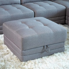 Curvy Square Ottoman with Storage