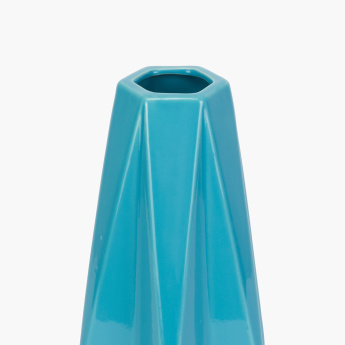 Lyra Hexagonal Shaped Glossy Vase