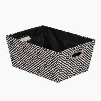 Hellen Trapezoidal Storage Basket with Cutout Handles - Set of 3