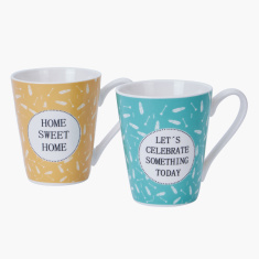 Printed Coffee Mug - Set of 2