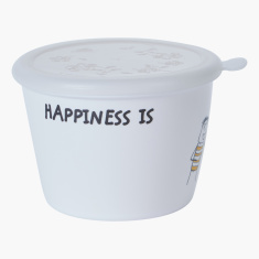 Happiness Printed Food Storage Jar with Lid
