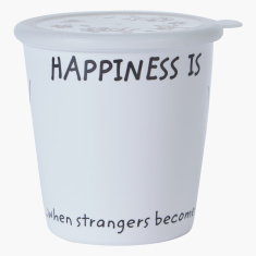 Happiness Printed Storage Jar with Lid - 850 ml