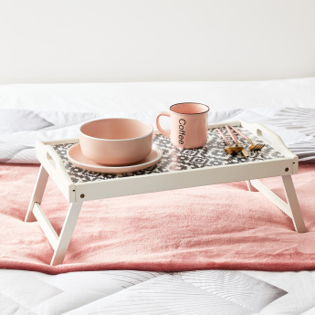 Olive Painted Foldable Bed Tray