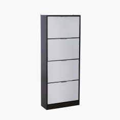 Sky 4-Tier Shoe Cabinet with Mirror